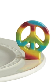 Nora Fleming Peace Sign Mini - Product Mini Image