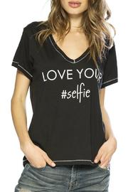 Peace Love World Love Your #Selfie Tee - Front cropped