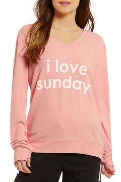 Peace Love World Sunday Comfy Sweatshirt - Product List Image