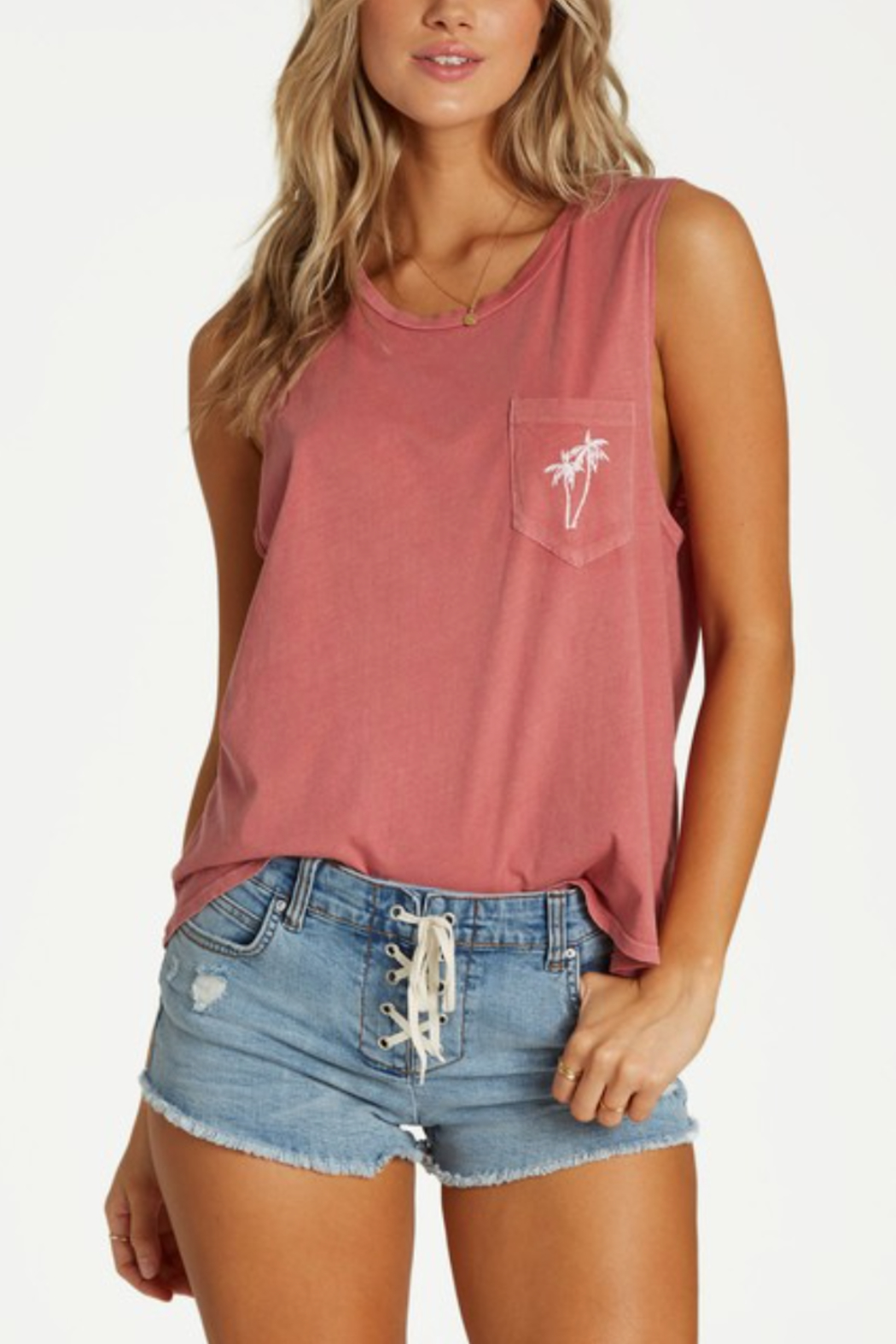 Billabong Peaceful Palms Tank - Front Cropped Image