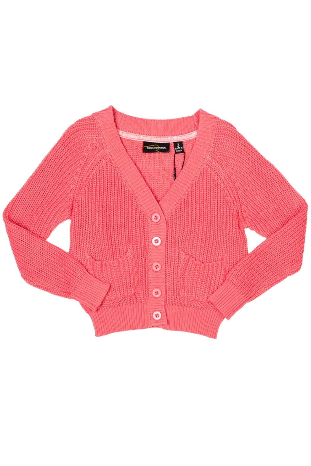 Rock Your Baby Peach Baby Cardigan - Main Image