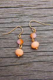 Wild Lilies Jewelry  Peach Beaded Earrings - Product Mini Image
