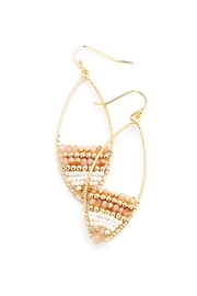 China Peach Beaded Earrings - Product Mini Image