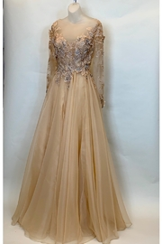 Terani Couture PEACH BLOSSOM GOWN - Front cropped