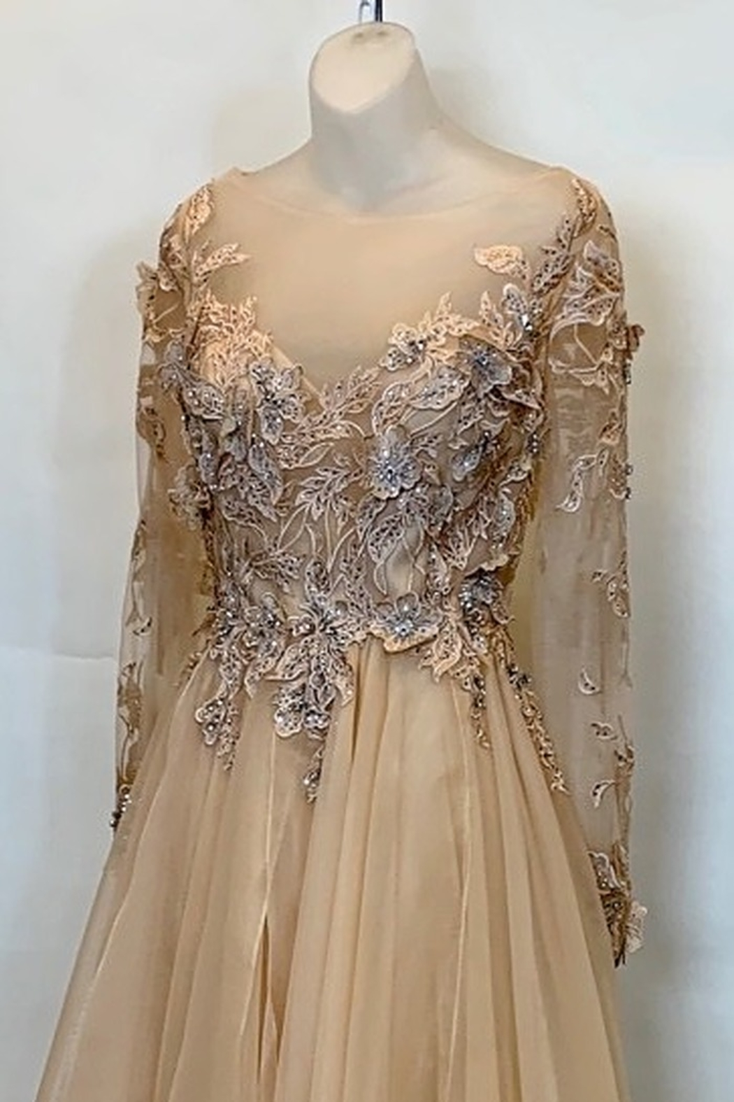 Terani Couture PEACH BLOSSOM GOWN - Front Full Image