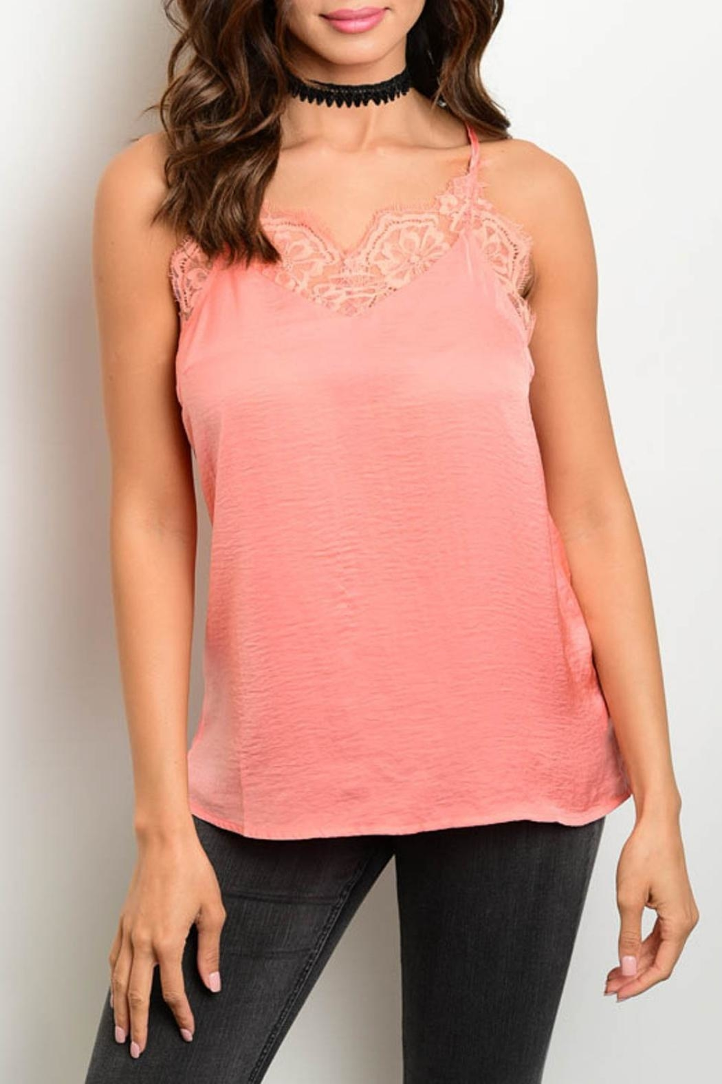 Cecico Peach Cami Top - Front Cropped Image