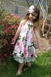 Gurly Bird Peach-Floral-Southern-Belle-Halter-Dress - Front cropped