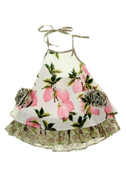 Gurly Bird Peach-Floral-Southern-Belle-Halter-Dress - Back cropped