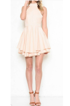 L'atiste Peach Halter Mini Dress - Product List Image
