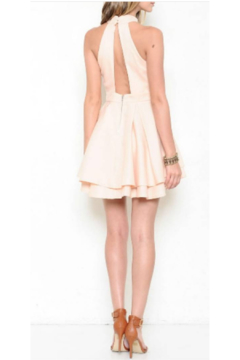 L'atiste Peach Halter Mini Dress - Alternate List Image