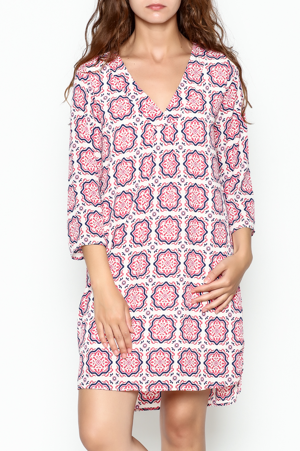 Peach Love California Capri Medallion Dress - Main Image