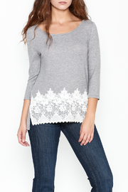 Peach Love California Lucy Lace Knit Top - Front cropped
