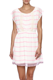 Peach Love California Neon Dotted Dress - Product Mini Image