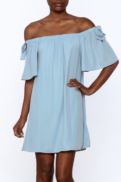 Peach Love California Blue Off The Shoulder Dress - Product List Image