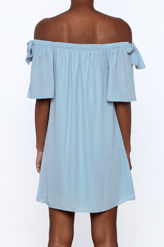 Peach Love California Blue Off The Shoulder Dress - Alternate List Image