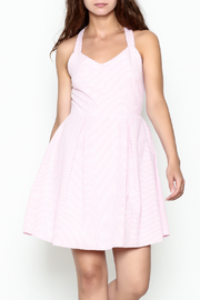 Peach Love California Seersucker Bow Dress - Front cropped