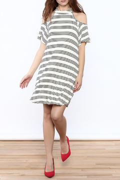 Peach Love California Striped Cold Sholder Dress - Product List Image