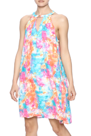 Peach Love California Watercolor Print Dress - Product Mini Image