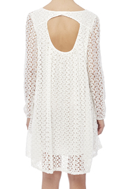 Peach Love California White Lace Dress - Back cropped