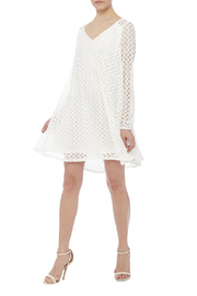 Peach Love California White Lace Dress - Front full body