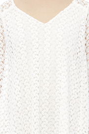Peach Love California White Lace Dress - Other