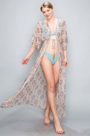 AAKAA Peach Maxi Coverup - Front full body