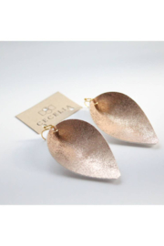 Cecelia Designs Jewelry Peach Pinched Leaf Earring - Product Mini Image