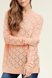 Staccato Peach Pointelle Sweater - Product Mini Image