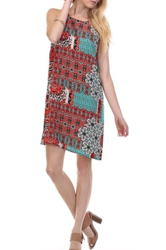 Wasabi + Mint Peach Print Dress - Product List Image