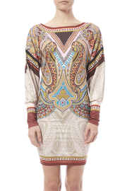 peach puff Paisley Dress - Side cropped