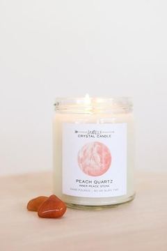 JaxKelly Peach Quartz Crystal Candle - Product List Image