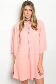 Pink Owl Apparel  Peach Shift Dress - Front cropped