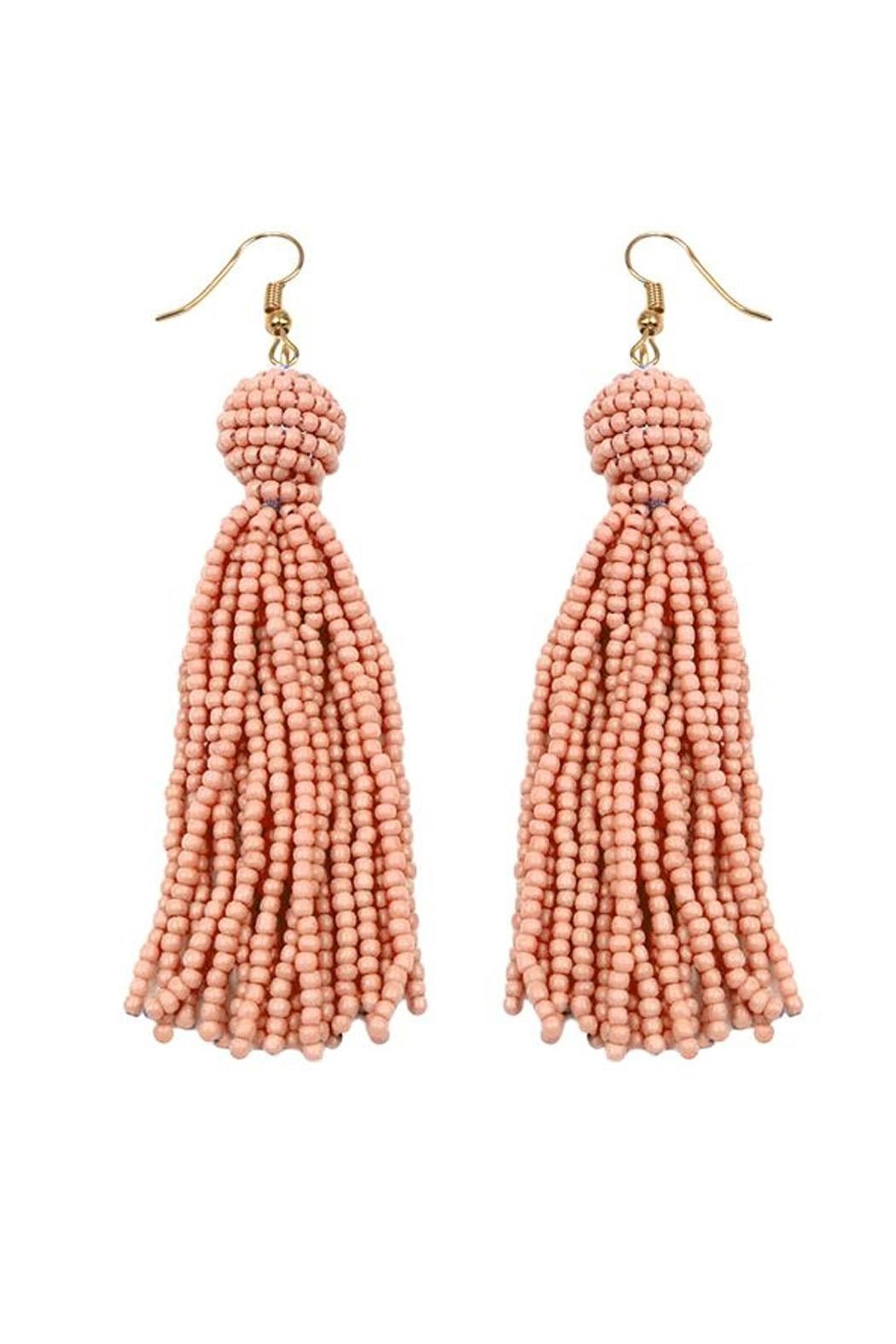 Wild Lilies Jewelry  Peach Tassel Earrings - Front Cropped Image