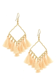 Wild Lilies Jewelry  Peach Tassel Earrings - Product Mini Image