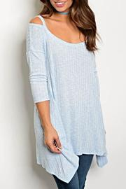 Peach Love California 3/4blue Sleeve Tunic - Product Mini Image