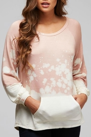 Peach Love California Acid Wash Pullover - Product Mini Image