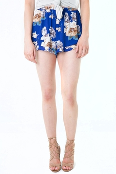 Peach Love California Blue Floral Shorts - Product List Image