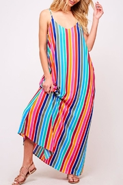 Peach Love California Colorful Maxi Dress - Product Mini Image
