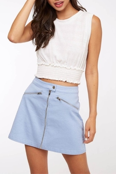 Peach Love California Cropped Basic Knit - Product List Image