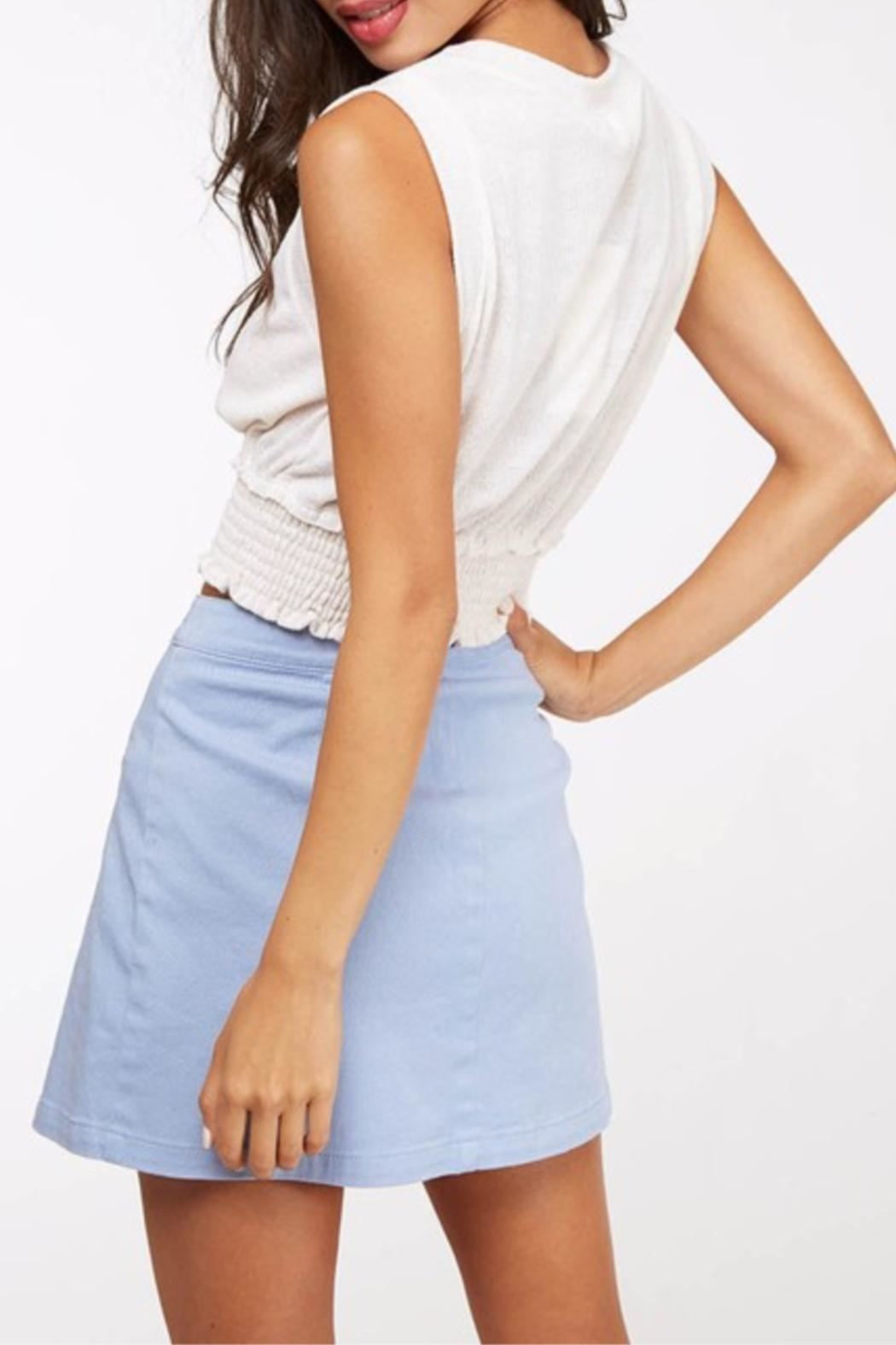 Peach Love California Cropped Basic Knit - Back Cropped Image