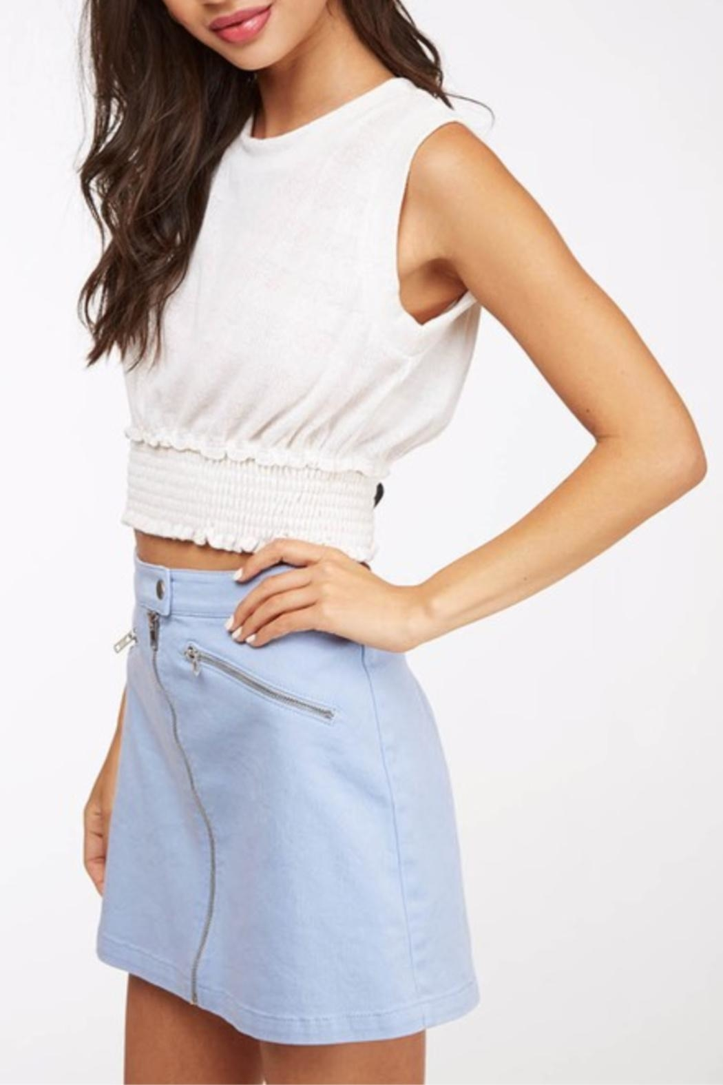 Peach Love California Cropped Basic Knit - Side Cropped Image