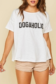 Peach Love California Dogaholic Graphic Tee - Front cropped