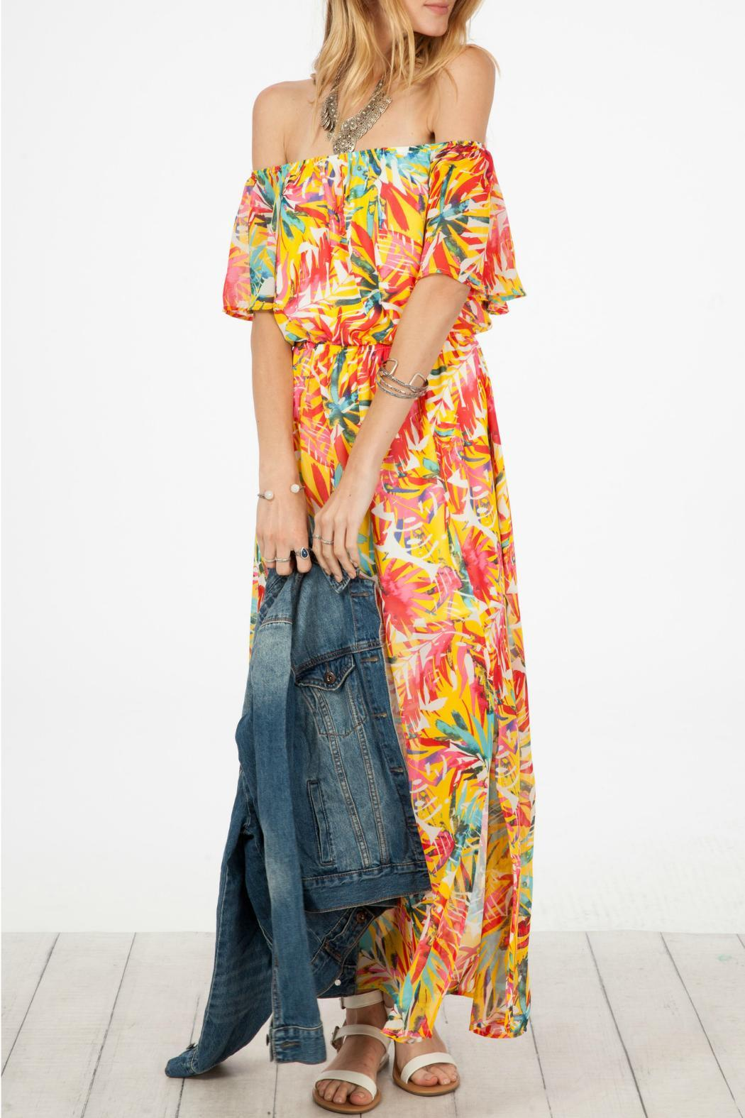 Peach Love California Double Slit Maxi - Side Cropped Image