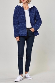 Peach Love California Faux Sherpa Jacket - Front cropped