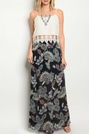 Peach Love California Feather Print Skirt - Product Mini Image