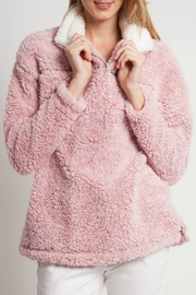 Peach Love California Fleece Pullovers - Front cropped