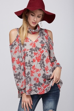 Shoptiques Product: Floral Cold Shoulder