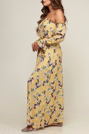 Peach Love California Floral Maxi - Front cropped