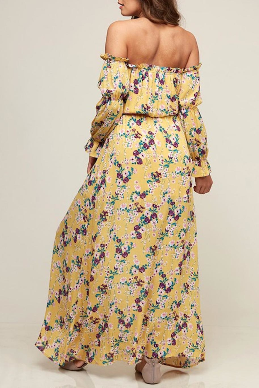 Peach Love California Floral Maxi - Side Cropped Image