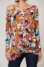 Peach Love California Floral Off-Shoulder Long-Sleeve - Product Mini Image